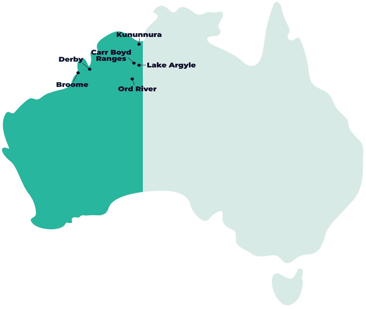 AdventureWorks WA Our Locations - Kimberley, Western Australia camping.