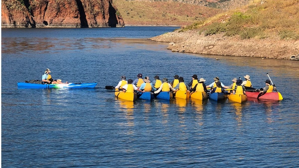 Students kayaking on the Ord River